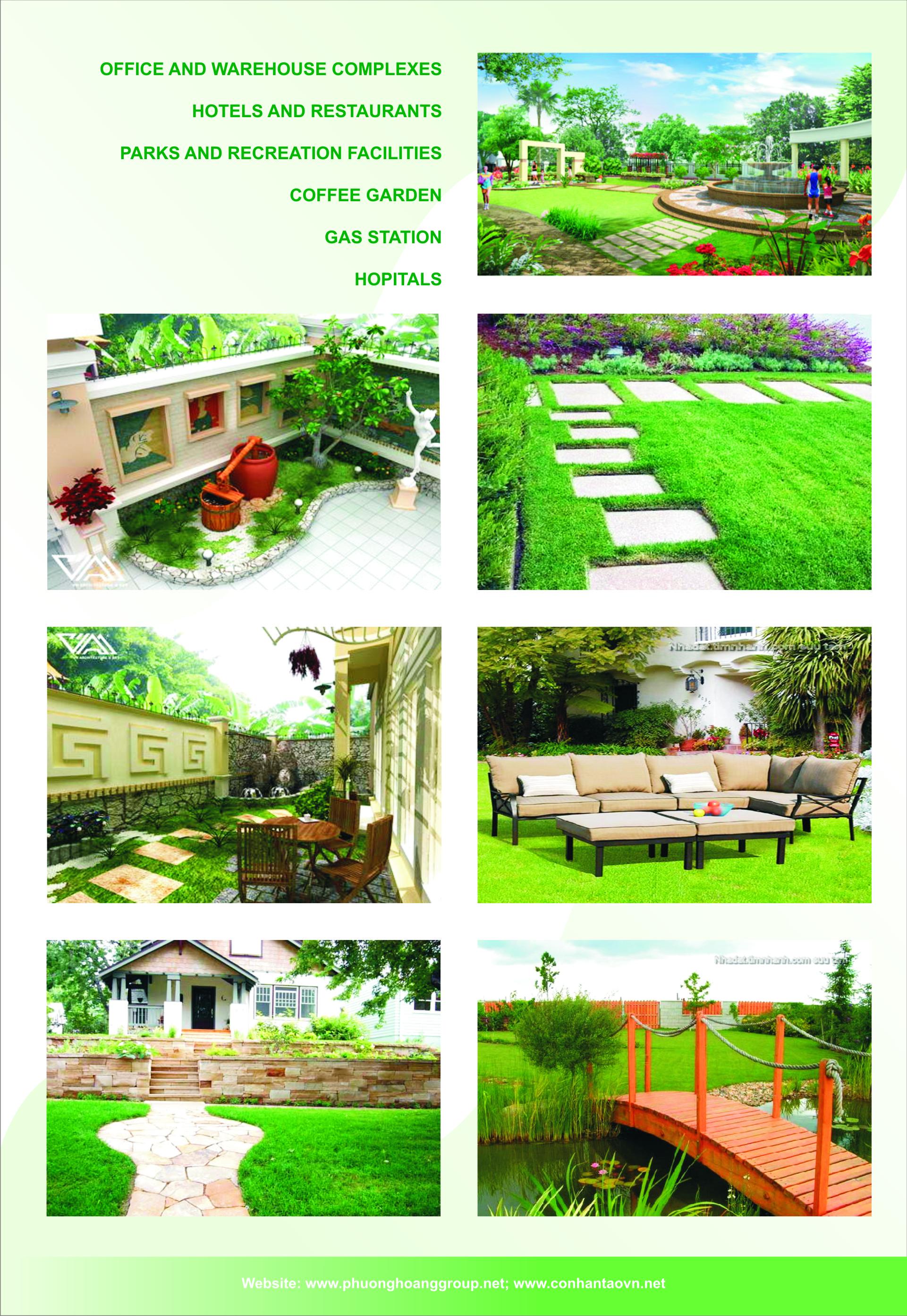 trang trí sân vườn, cafe, ngoại cảnh